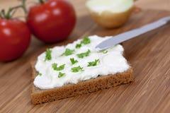 η φρέσκια φέτα ψωμιού τεμάχι&si Στοκ Φωτογραφία