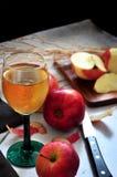 Η φρέσκια Apple με το ποτήρι του φρέσκου χυμού της Apple Στοκ Φωτογραφίες