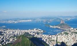 Η φραντζόλα και το Botafogo ζάχαρης βουνών στο Ρίο ντε Τζανέιρο στοκ εικόνα