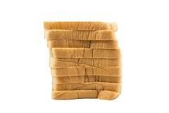 Η φραντζόλα περικοπών του ψωμιού, που απομονώνεται Στοκ Εικόνες