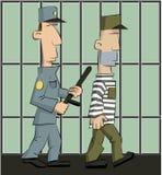 Η φρουρά φυλακίζεται Στοκ εικόνες με δικαίωμα ελεύθερης χρήσης