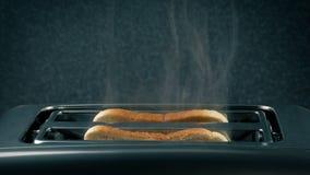 Η φρυγανιά καίει και καπνίζει απόθεμα βίντεο