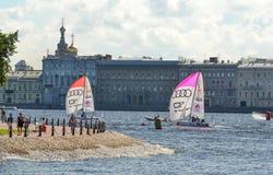 Η φυλή για την ευρωπαϊκή ναυσιπλοΐα Champions League από 11 έως 13 Στοκ Φωτογραφία