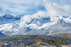 Η φυσική ομορφιά των δύσκολων βουνών του Κολοράντο Στοκ Φωτογραφίες