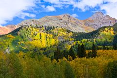 Η φυσική ομορφιά των δύσκολων βουνών του Κολοράντο Στοκ Φωτογραφία