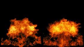 Η φυσική πυρκαγιά ξεσπά και εξασθενίζει μακριά, με την άλφα μάσκα ελεύθερη απεικόνιση δικαιώματος