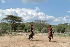 Η φυλή Hamar στην κοιλάδα Omo της Αιθιοπίας Στοκ Εικόνες