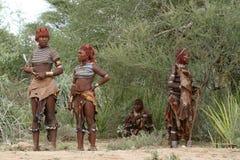 Η φυλή Hamar στην κοιλάδα Omo της Αιθιοπίας Στοκ Εικόνα