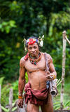Η φυλή Mentawai ατόμων πηγαίνει στη ζούγκλα Στοκ Εικόνα