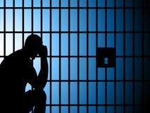 Η φυλακή Copyspace αντιπροσωπεύει παίρνει στην επιτήρηση και τη σύλληψη Στοκ Φωτογραφία