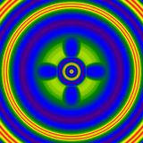 Η φωτεινή λάμψη σπινθηρίσματος, πυράκτωση νέου, επηρεάζει το κακό μάτι διανυσματική απεικόνιση