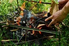 Η φωτιά στοκ φωτογραφίες με δικαίωμα ελεύθερης χρήσης