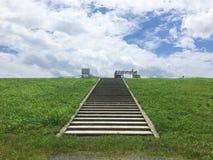 Η φωτογραφία από το πάρκο προκυμαιών yodogawa της Οζάκα Στοκ φωτογραφία με δικαίωμα ελεύθερης χρήσης