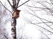 Η φωτογραφία του birdhouse σταθμεύει την άνοιξη στοκ εικόνες