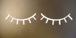 Η φωτογραφία χρωμάτισε τις ιδιαίτερες προσοχές με τα eyelashes στοκ εικόνες με δικαίωμα ελεύθερης χρήσης