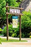 Η Χαβάη καθοδηγεί στην είσοδο του της Χαβάης χωριού στοκ φωτογραφίες με δικαίωμα ελεύθερης χρήσης