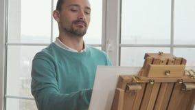 Η χαμένη καλλιτέχνης έμπνευση για τη ζωγραφική απόθεμα βίντεο