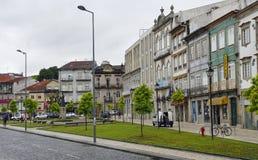 Η χαρακτηριστική παλαιά ζωηρόχρωμη κατοικία Braga, Πορτογαλία στοκ εικόνες