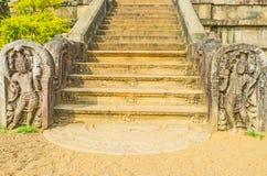 Η χαρασμένη σκάλα σε Isurumuniya Στοκ φωτογραφία με δικαίωμα ελεύθερης χρήσης