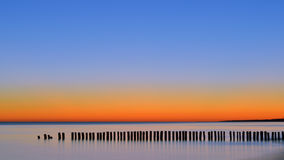 Η χαραυγή η θάλασσα στοκ φωτογραφία με δικαίωμα ελεύθερης χρήσης