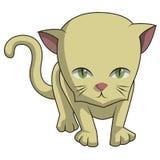 Η χαριτωμένη γάτα καφετί RR απεικόνιση αποθεμάτων
