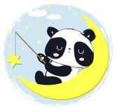 Η χαριτωμένη Panda αντέχει τα αστέρια επίσης corel σύρετε το διάνυσμα απεικόνισης Στοκ φωτογραφίες με δικαίωμα ελεύθερης χρήσης