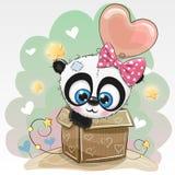 Η χαριτωμένη Panda και ένα μπαλόνι ελεύθερη απεικόνιση δικαιώματος