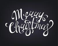 Η Χαρούμενα Χριστούγεννα δίνει τη γραπτή εγγραφή Στοκ φωτογραφίες με δικαίωμα ελεύθερης χρήσης