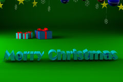 Η Χαρούμενα Χριστούγεννα επιγραφής Στοκ Εικόνα