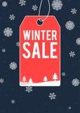 Η χειμερινή πώληση το σχέδιο αφισών Στοκ εικόνα με δικαίωμα ελεύθερης χρήσης