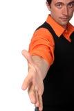 η χειραψία χεριών αφήνει το κούνημά μας Στοκ φωτογραφία με δικαίωμα ελεύθερης χρήσης