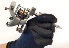 η χειροποίητη απομονωμένη δερματοστιξία μηχανών χρησιμοποίησε το λευκό Στοκ φωτογραφία με δικαίωμα ελεύθερης χρήσης