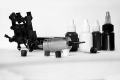 η χειροποίητη απομονωμένη δερματοστιξία μηχανών χρησιμοποίησε το λευκό Στοκ Εικόνα