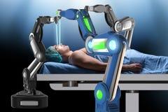 Η χειρουργική επέμβαση που εκτελείται από το ρομποτικό βραχίονα Στοκ εικόνες με δικαίωμα ελεύθερης χρήσης