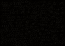 Η χημική δομή σε ένα μαύρο υπόβαθρο Στοκ Εικόνα