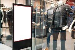 Η χλεύη ονομάζει επάνω το πλαίσιο για τις αγορές, αντιπροσωπεύει το βιβλιάριο ή την αφίσα bil Στοκ Εικόνες