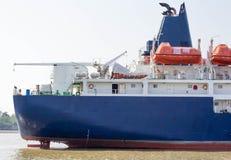 Η χοάνη ενός κενού ναυλωτή που δένεται Στοκ Φωτογραφίες
