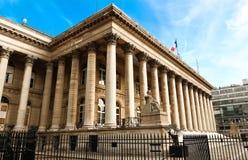 Η χρηματιστήριο του παλατιού του Παρισιού Brongniart, Παρίσι, Γαλλία Στοκ Εικόνες
