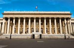 Η χρηματιστήριο του παλατιού του Παρισιού Brongniart, Παρίσι, Γαλλία Στοκ Εικόνα