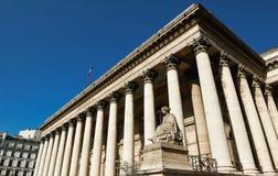 Η χρηματιστήριο του παλατιού του Παρισιού Brongniart, Παρίσι, Γαλλία Στοκ Φωτογραφία