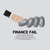 Η χρηματοδότηση αποτυγχάνει την οικονομική έννοια αποτυχίας Στοκ Εικόνα