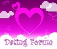 Η χρονολόγηση του φόρουμ σημαίνει τους συνεργάτες και την αγάπη αγαπημένων ελεύθερη απεικόνιση δικαιώματος
