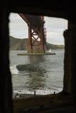 Η χρυσή γέφυρα πυλών Στοκ φωτογραφία με δικαίωμα ελεύθερης χρήσης