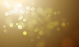 Η χρυσή ελαφριά θαμπάδα ακτινοβολεί ή το σπινθήρισμα το διανυσματικό υπόβαθρο Στοκ Εικόνες
