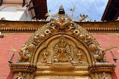 Η χρυσή πύλη στην πλατεία Durbar Bhaktapur, Κατμαντού Νεπάλ Στοκ Φωτογραφία