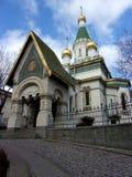 Η χρυσή Sofia: Ρωσική εκκλησία Στοκ Εικόνα