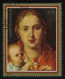 Η χρωματίζοντας Virgin με ένα γαρίφαλο από το Albrecht Durer Στοκ φωτογραφίες με δικαίωμα ελεύθερης χρήσης