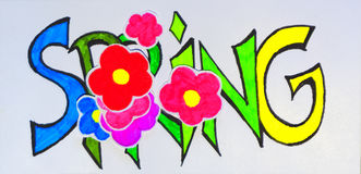 Η χρωματισμένη επιγραφή Στοκ Εικόνες