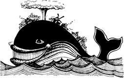 Η ψάρι-φάλαινα εν πλω ελεύθερη απεικόνιση δικαιώματος