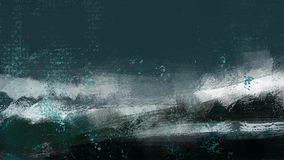Η ωκεάνια παραλία κυμάτων νερού αναζωογονεί τη ζωγραφική απεικόνισης διακοπών απεικόνιση αποθεμάτων